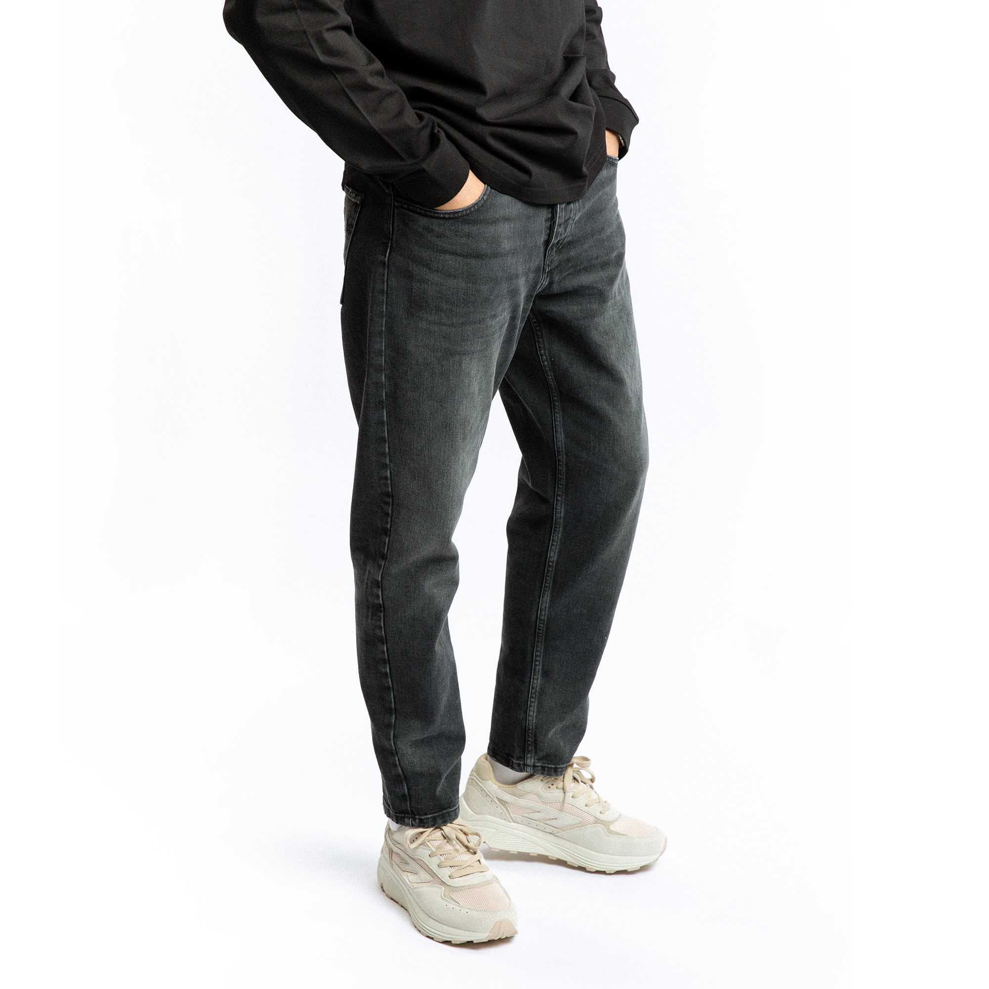 Jeans - Relaxed fit - Svart